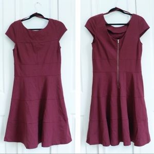 BANANA RUPUBLIC WINE RED DRESS!! 👗 🍷